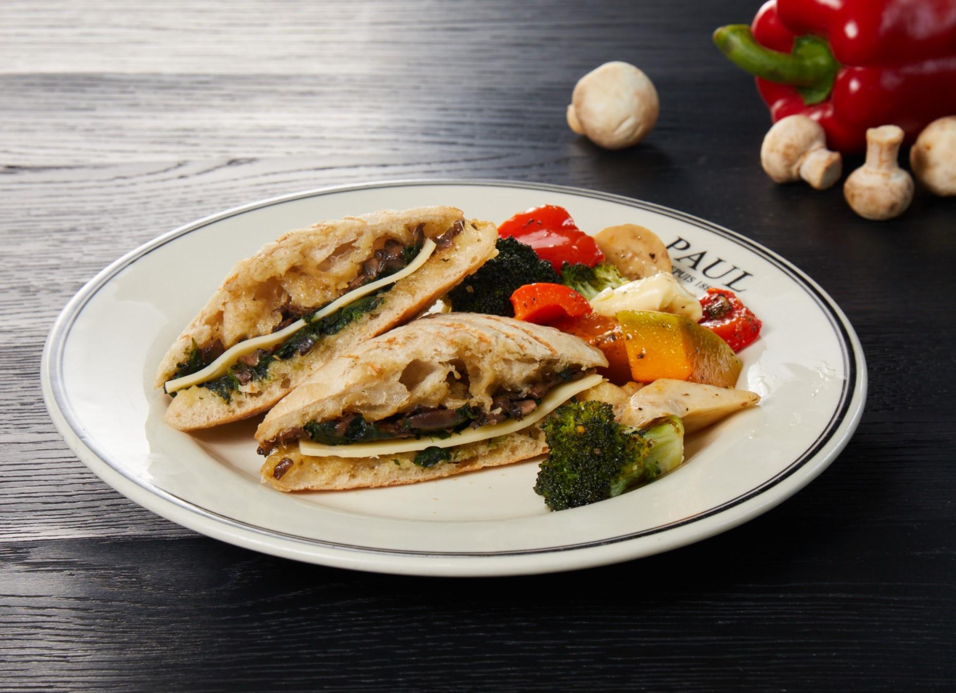 野菇菠菜起司帕尼尼 Cheese Panini with Mushroom Spinach