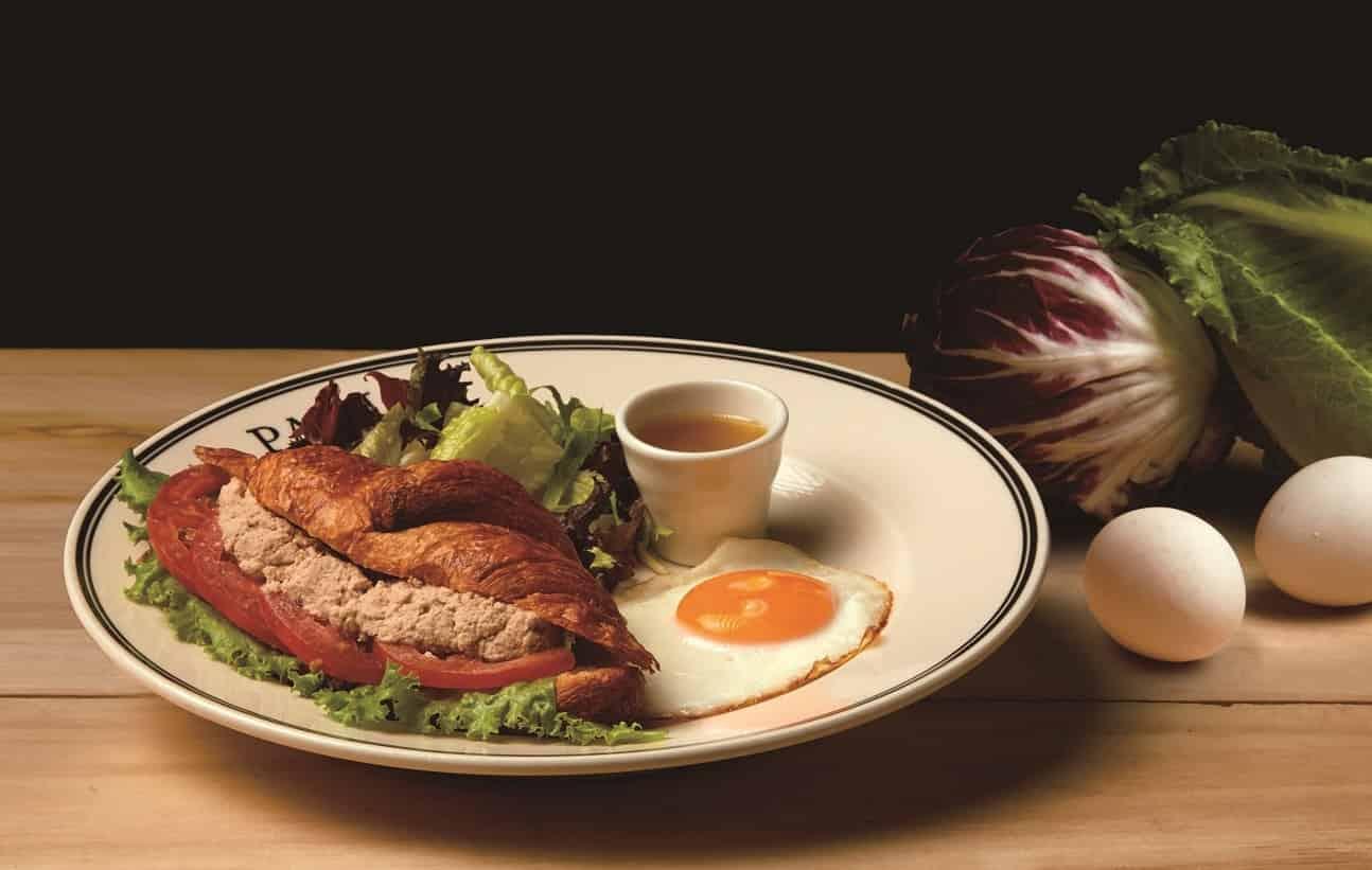 鮪魚佐芥末蛋黃瘋可頌 Croissant with Tuna and Mustard Mayonnaise